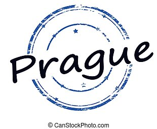 Prague - Rubber stamp with word Prague inside, vector...