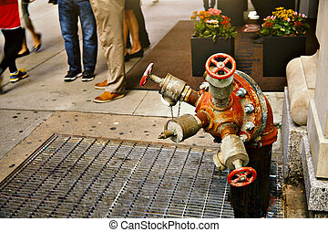 Fire hydrant on the street in New York