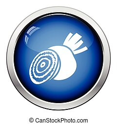 Beetroot icon Glossy button design Vector illustration