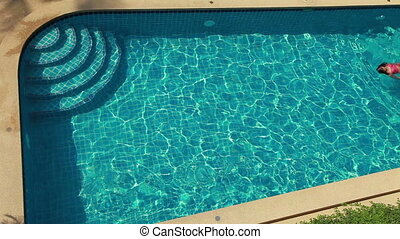 Swimming Woman In The Pool