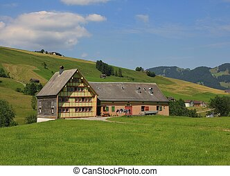 Old house with shed in Appenzell Canton - Typical...