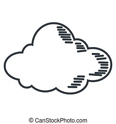 single cloud icon - simple flat design single cloud icon...