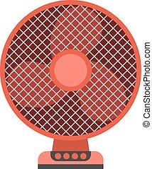 Ceiling fan vector illustration. - Electric ceiling fan wind...