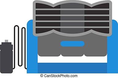 Industrial fan vector illustration - Industrial fan to...