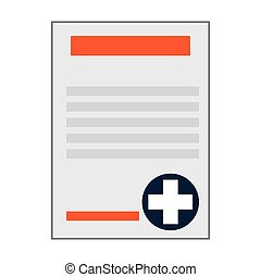 medical history icon - simple flat design medical history...