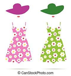 woman dress color illustration - woman dress fashion color...