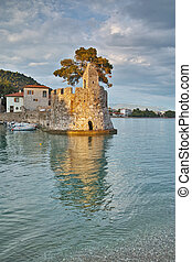 Nafpaktos town, Western Greece - Amazing sunset of the port...