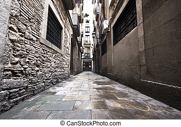 Gotic Quarter - Barcelona, Spain streets of the Gotic...