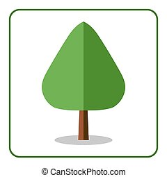 Oak poplar tree icon flat design - Oak or poplar tree icon....