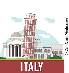pisa tower italy banner