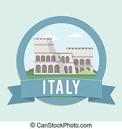italy travel and tour design concept