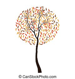 abstract background with autumn trees