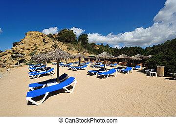 Beautiful small beach in Ibiza