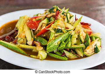 Spicy cucumber salad - Spicy cucumber salad that is one type...
