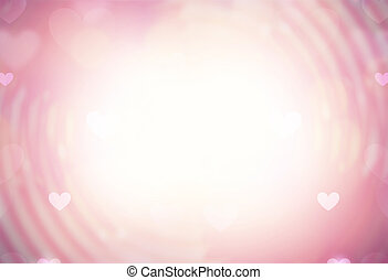 bukeh hearts spiral background