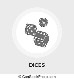 Dices vector flat icon - Dices icon vector. Flat icon...