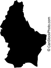 Map - Luxembourg - Map of Luxembourg in black