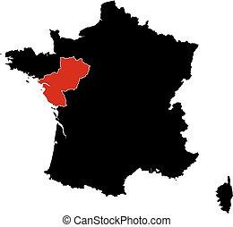 Map - France, Pays de la Loire