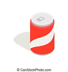 Carbonated drink icon, isometric 3d style