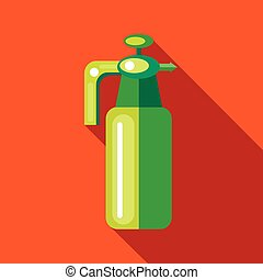 Pressure garden sprayer bottle icon, flat style - Pressure...