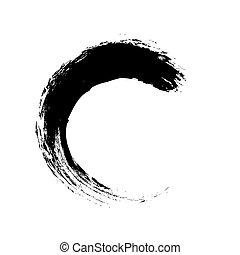 grunge brush stroke line, vector design element