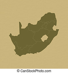 Map - South Africa - Map of South Africa on historic paper