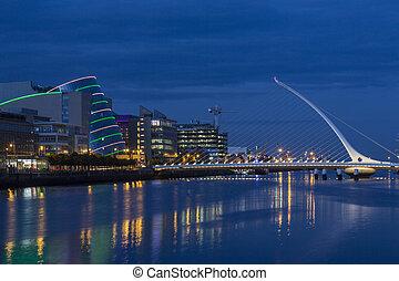 Dublin - Ireland - The River Liffey, the Samuel Beckett...
