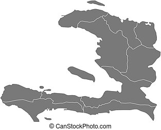 Map - Haiti - Map of Haiti as a dark area