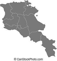 Map - Armenia - Map of Armenia as a dark area.