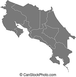 Map - Costa Rica - Map of Costa Rica as a dark area