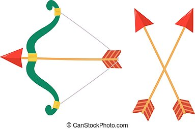 Bow and Arrow - Vector Illustration of Bow and Arrow