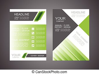 modern triangle cover design, business infographic template
