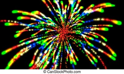 color Fireworks,seamless loop