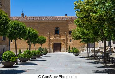 Montarco palace in Ciudad Rodrigo, Salamanca, Castilla y Leon. Spain.