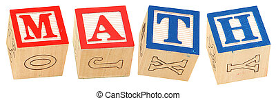 Alphabet Blocks MATH - Colorful alphabet blocks spelling the...
