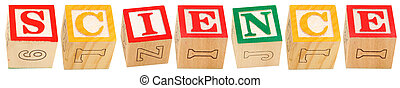 Alphabet Blocks SCIENCE - Colorful alphabet blocks spelling...