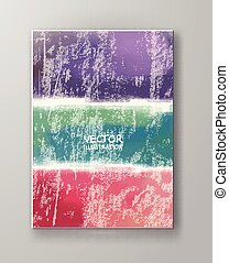 Brochure with Multicolored Blured Backgrounds - Pastel Paint...