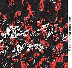 respingo, pretas, vermelho, fundo, tinta