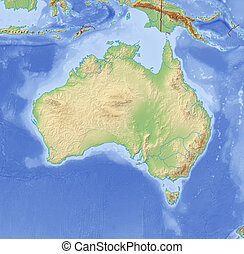 Relief Map of Australia - 3D-Rendering
