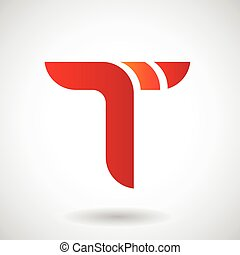 Logo Shape and Icon of Letter T, Vector Illustration
