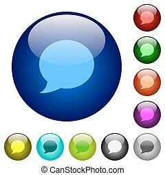 Color Blog comment glass buttons