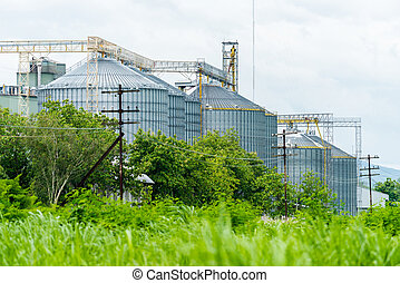 Production, Industrial buildings, agriculture wheat silos