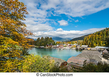 Landscape with lake and mountains - Beautiful view on...