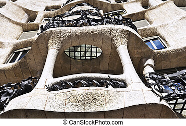 Barcelona, Spain - house facade Cas - Fairytale house facade...