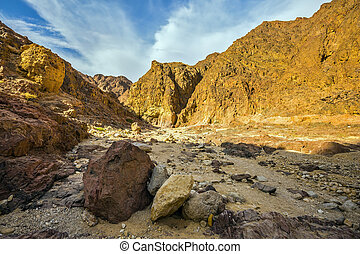 Black canyon in Eilat mountains - The picturesque Black...