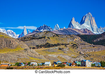 The town of El Chalten - Incredible Patagonia. The town of...