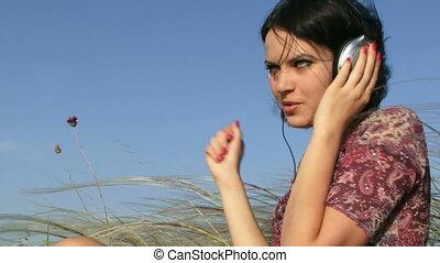 Music with headphones