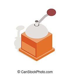 Coffee grinder icon, isometric 3d style