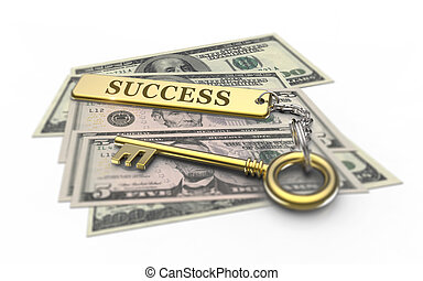 Golden key to success and wealth