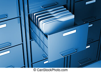 file cabinet and folder - file cabinet 3d and folder closeup...